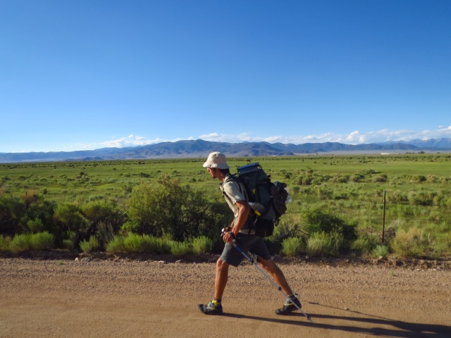 Luke on the San Luis Valley crossing.