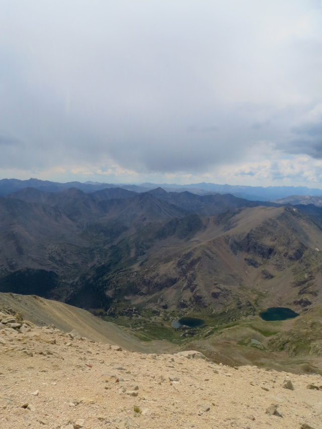 A view west from the summit of Mt. Massive.