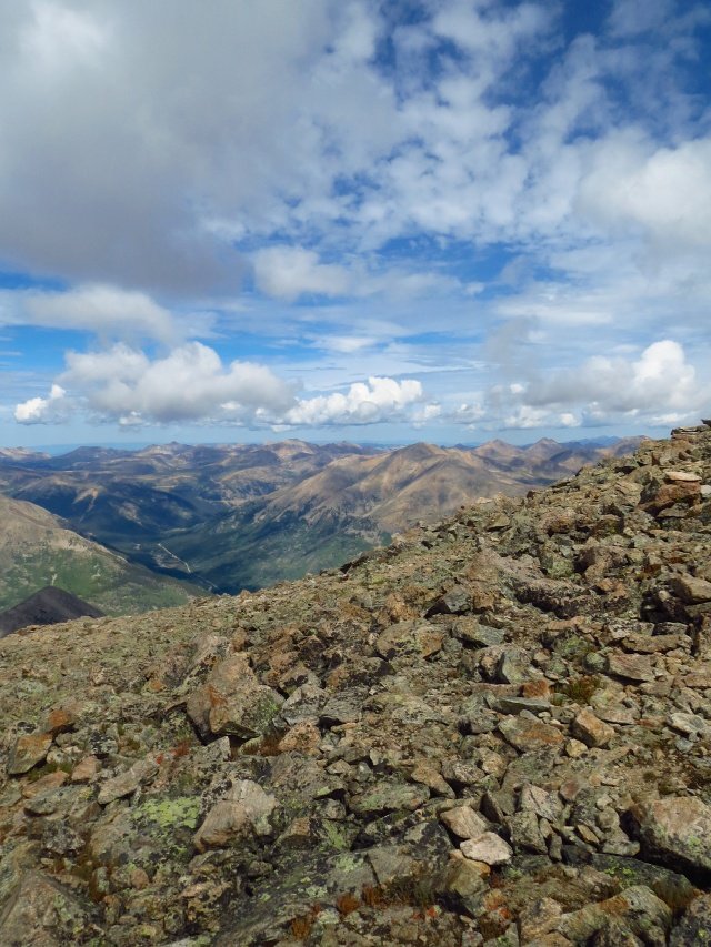 A view from the top of La Plata Peak.