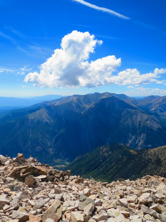 A beautiful day on the summit of Mt. Princeton.