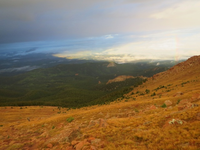 A strange quality to the light during the climb up to Pikes Peak from the Craggs Campground.