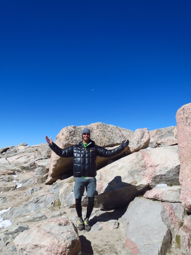 Luke on the summit of Mt. Evans.