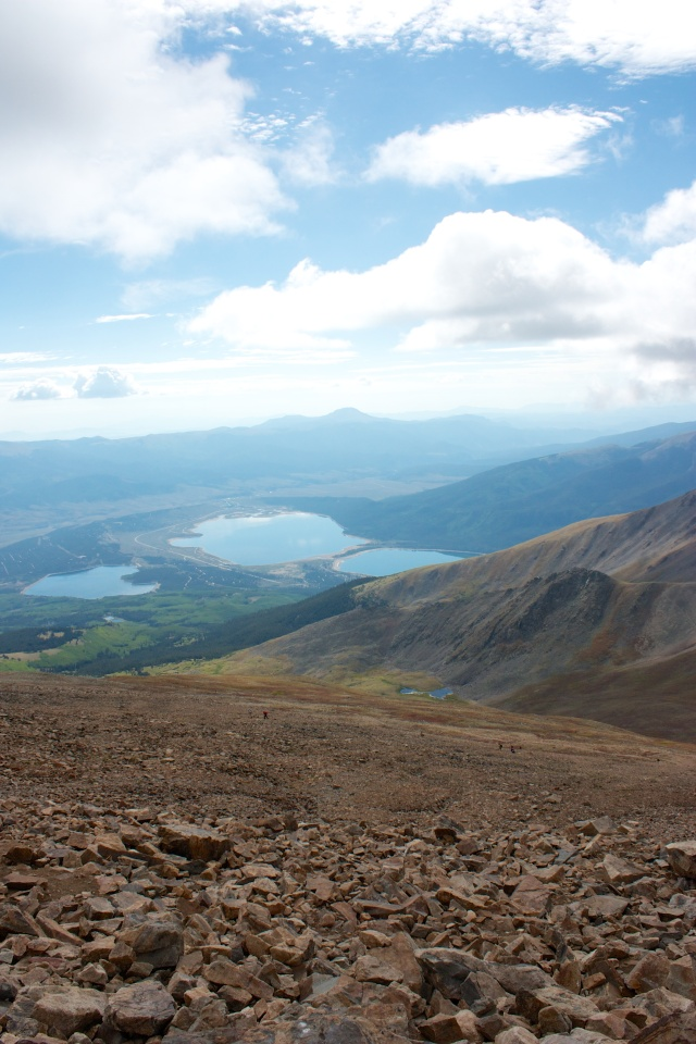 Twin Lakes from the Elbert summit.