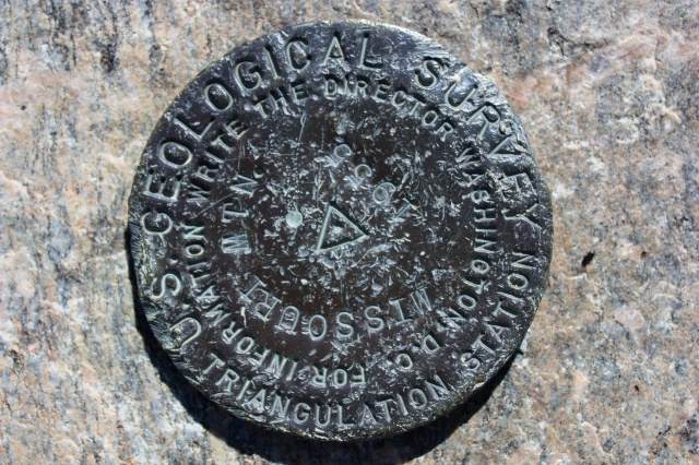 Missouri Mountain survey marker.