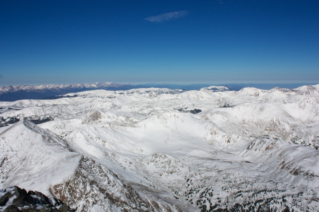 The view west from Torreys Peak.