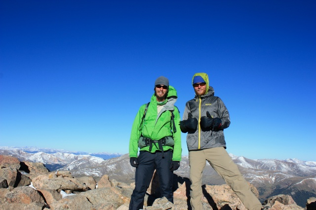 Luke and Junaid on Mt. Bierstadt.