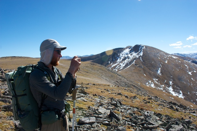 Junaid snaps a pic from the Continental Divide, South of James Peak.